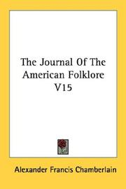 Cover of: The Journal Of The American Folklore V15