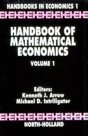 Cover of: Handbook of mathematical economics by