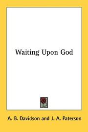 Cover of: Waiting Upon God | A. B. Davidson