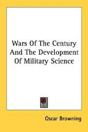 Cover of: Wars Of The Century And The Development Of Military Science