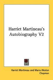Cover of: Harriet Martineau's Autobiography V2