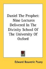 Cover of: Daniel The Prophet