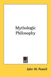 Cover of: Mythologic Philosophy