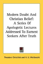 Cover of: Modern Doubt And Christian Belief