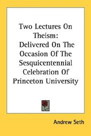 Cover of: Two Lectures On Theism | Andrew Seth