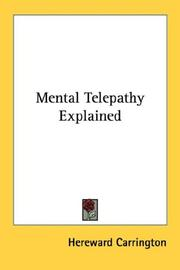 Cover of: Mental Telepathy Explained