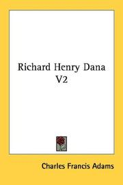 Cover of: Richard Henry Dana V2