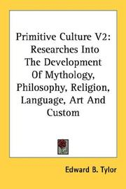 Cover of: Primitive Culture V2