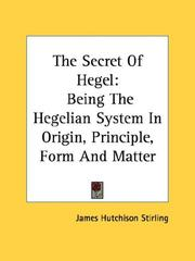Cover of: The secret of Hegel