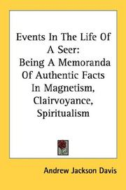Cover of: Events In The Life Of A Seer