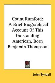 Cover of: Count Rumford