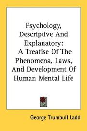 Cover of: Psychology, Descriptive And Explanatory