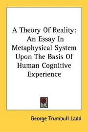 Cover of: A Theory Of Reality