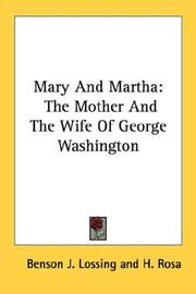 Cover of: Mary And Martha