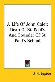 Cover of: A Life Of John Colet