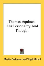 Cover of: Thomas Aquinas