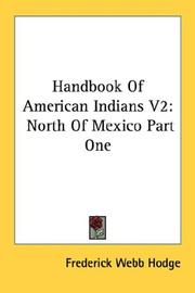 Cover of: Handbook Of American Indians V2 | Frederick Webb Hodge
