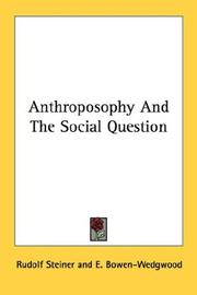 Cover of: Anthroposophy And The Social Question