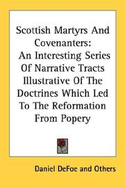 Cover of: Scottish Martyrs And Covenanters | Daniel Defoe