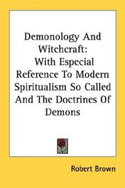 Cover of: Demonology And Witchcraft | Robert Brown