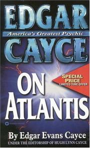 Cover of: Edgar Cayce on Atlantis (Edgar Cayce Series) | Edgar Evans Cayce
