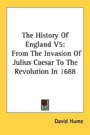 Cover of: The History Of England V5