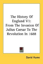 Cover of: The History Of England V1