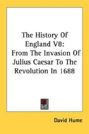 Cover of: The History Of England V8