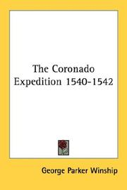 Cover of: The Coronado Expedition 1540-1542