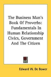 Cover of: The Business Man's Book Of Proverbs
