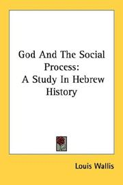 Cover of: God and the social process