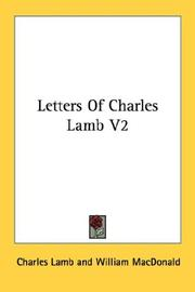 Cover of: Letters Of Charles Lamb V2