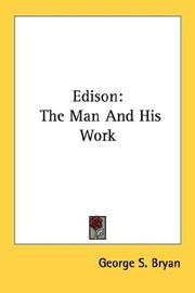 Edison by George S. Bryan