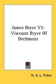 Cover of: James Bryce V2