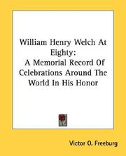Cover of: William Henry Welch At Eighty