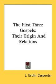 Cover of: The first three Gospels