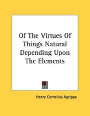 Of The Virtues Of Things Natural Depending Upon The Elements - Pamphlet