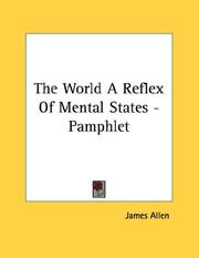 Cover of: The World A Reflex Of Mental States - Pamphlet