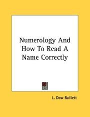 Cover of: Numerology And How To Read A Name Correctly