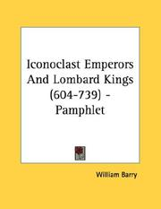 Cover of: Iconoclast Emperors And Lombard Kings (604-739) - Pamphlet