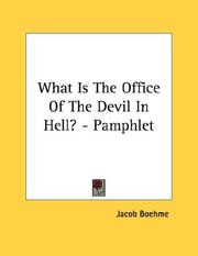 Cover of: What Is The Office Of The Devil In Hell? - Pamphlet