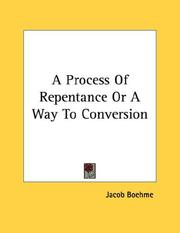 Cover of: A Process Of Repentance Or A Way To Conversion