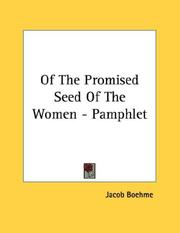 Cover of: Of The Promised Seed Of The Women - Pamphlet