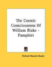 Cover of: The Cosmic Consciousness Of William Blake - Pamphlet