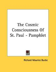 Cover of: The Cosmic Consciousness Of St. Paul - Pamphlet