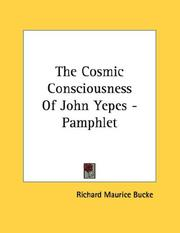 Cover of: The Cosmic Consciousness Of John Yepes - Pamphlet