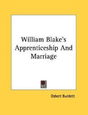 Cover of: William Blake's Apprenticeship And Marriage