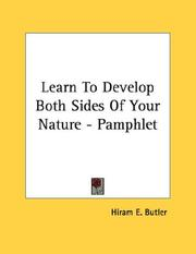 Cover of: Learn To Develop Both Sides Of Your Nature - Pamphlet