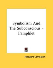 Cover of: Symbolism And The Subconscious - Pamphlet