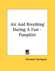 Cover of: Air And Breathing During A Fast - Pamphlet
